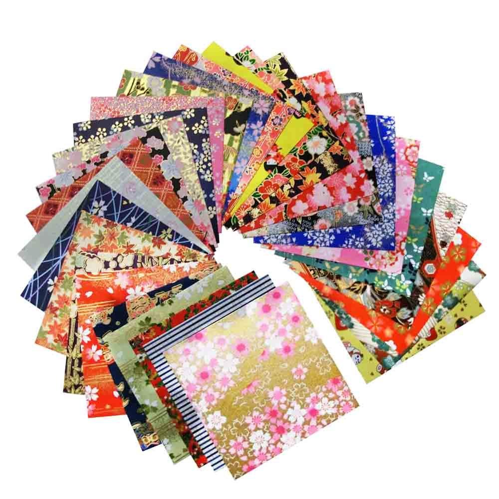 Yuzen Washi Paper 3.7 x 3.7, Japanese Chiyogami Washi Paper 30 Sheets GuCra Tradition 4336874427