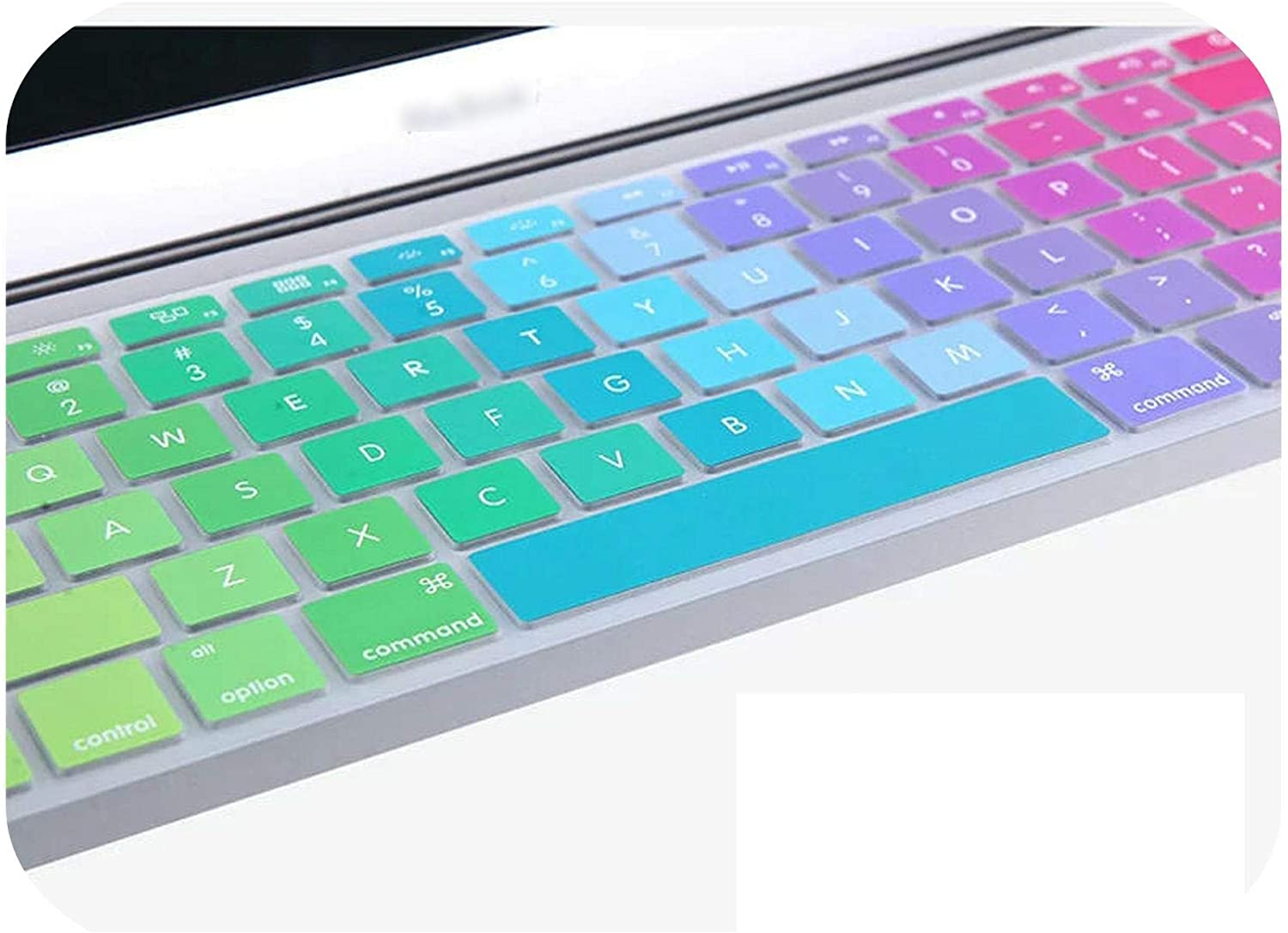 Rainbow Us English Letter Colorful Silicone Keyboard Cover for MacBook Air 12 //New 2016 Pro 13 Non Touch Bar A1708