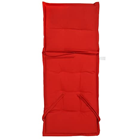 Rojo Respaldo Silla Con – Cojín En Piezas 2 Para Color Jardín Juego De Alto Jago 5LqAj4R3