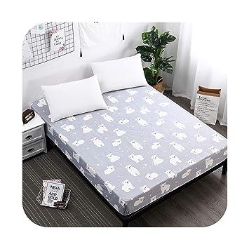 Amazon.com: Funda de colchón de impresión impermeable con ...