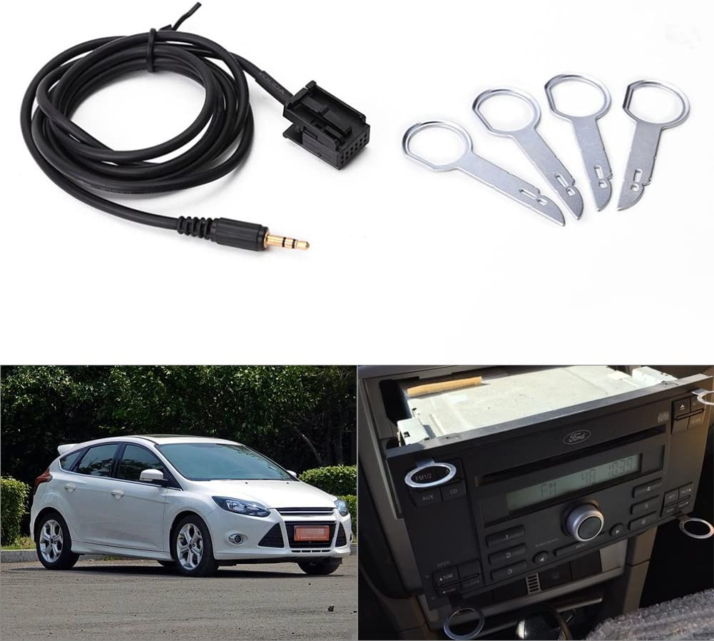 Qiilu 3.5mm 6000CD AUX Input Lead Adapter Cable For Ford With Four Removal Keys New Hot
