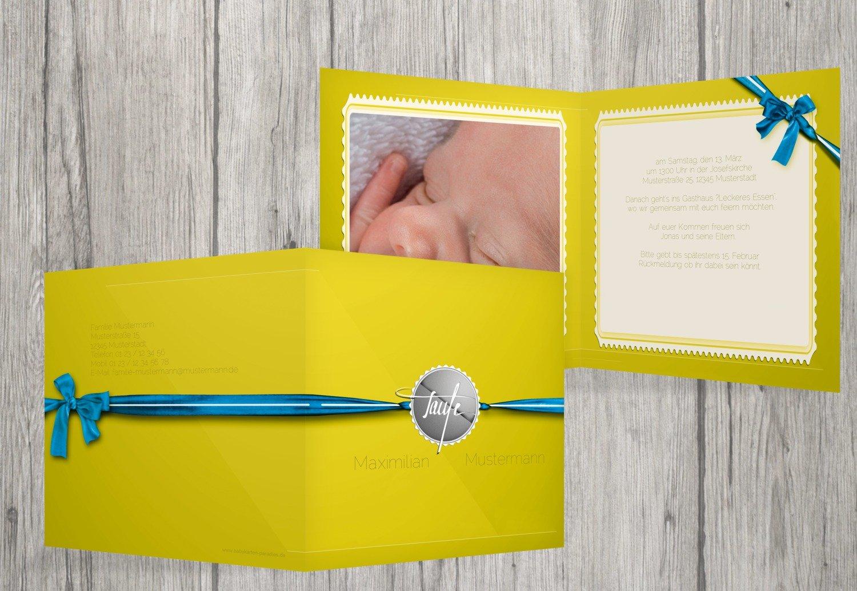 Kartenparadies Einladungskarte Taufeinladung Taufkarte Ribbon, hochwertige Einladung zur Taufe inklusive inklusive inklusive Umschläge   10 Karten - (Format  145x145 mm) Farbe  Rosalila B01N39UGO8 | Online-Shop  | Gutes Design  | Viele Sorten  fe2e01