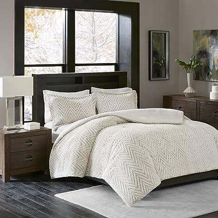 california king bed set. Madison Park Adelyn King/Cal King Size Bed Comforter Set - Ivory, Chevron \u2013 California D