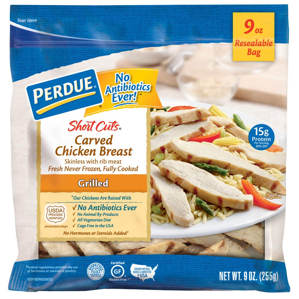 Perdue Short Cuts, Carved Chicken Breast Strips, Grilled, Fully Cooked Fresh, 9 oz