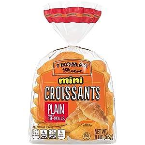Thomas' Mini Plain Croissants, 19 count - 2 Packs