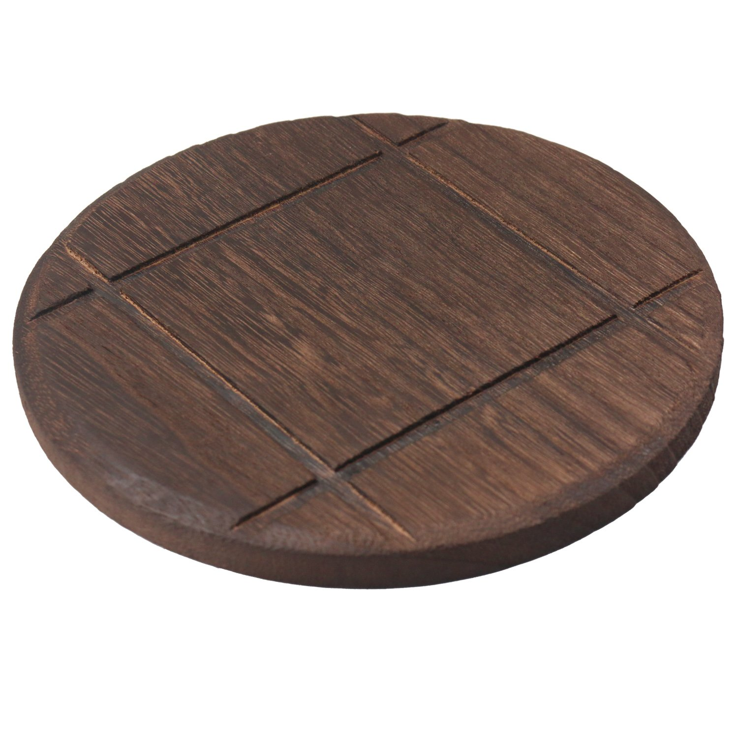 wellhouse Wooden Trivets Hot Pads Heat Resistant Pads Teapot Trivets Non-slip Pads for Hot Dishes and Pot Wooden Hot Pads Insulation Coasters Round and Square (Square, 1)