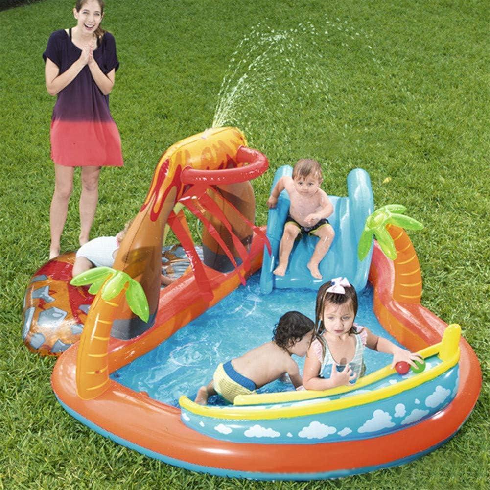 AJH Kids Inflatable Bouncy Castle, Castillo Inflable para niños Piscina climatizada con tobogán y Fuente Piscina Infantil para bebés