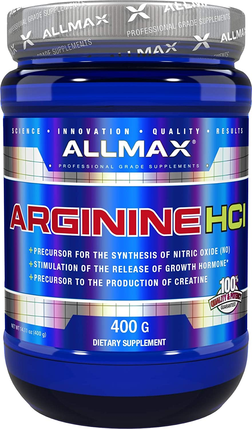 ALLMAX Nutrition 100 Pure Arginine HCI Powder, 400g