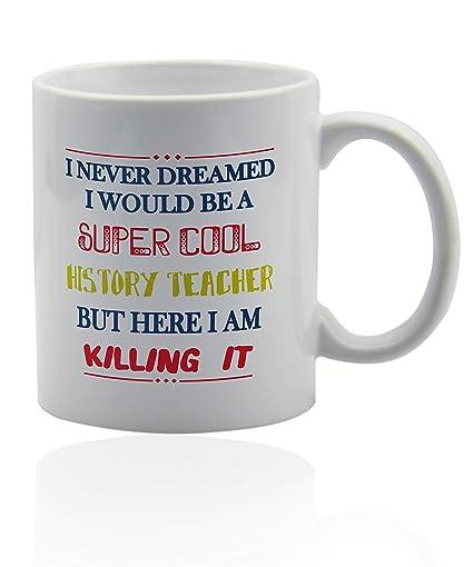 Amazon com: History teacher gifts 11 oz  white ceramic cup