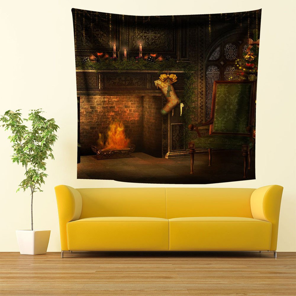 Wall Tapestry for Bedroom Hanging Print Beach Towel Throw Blanket Sheet Picnic Mat Huaa Beach Towel Chair Clips