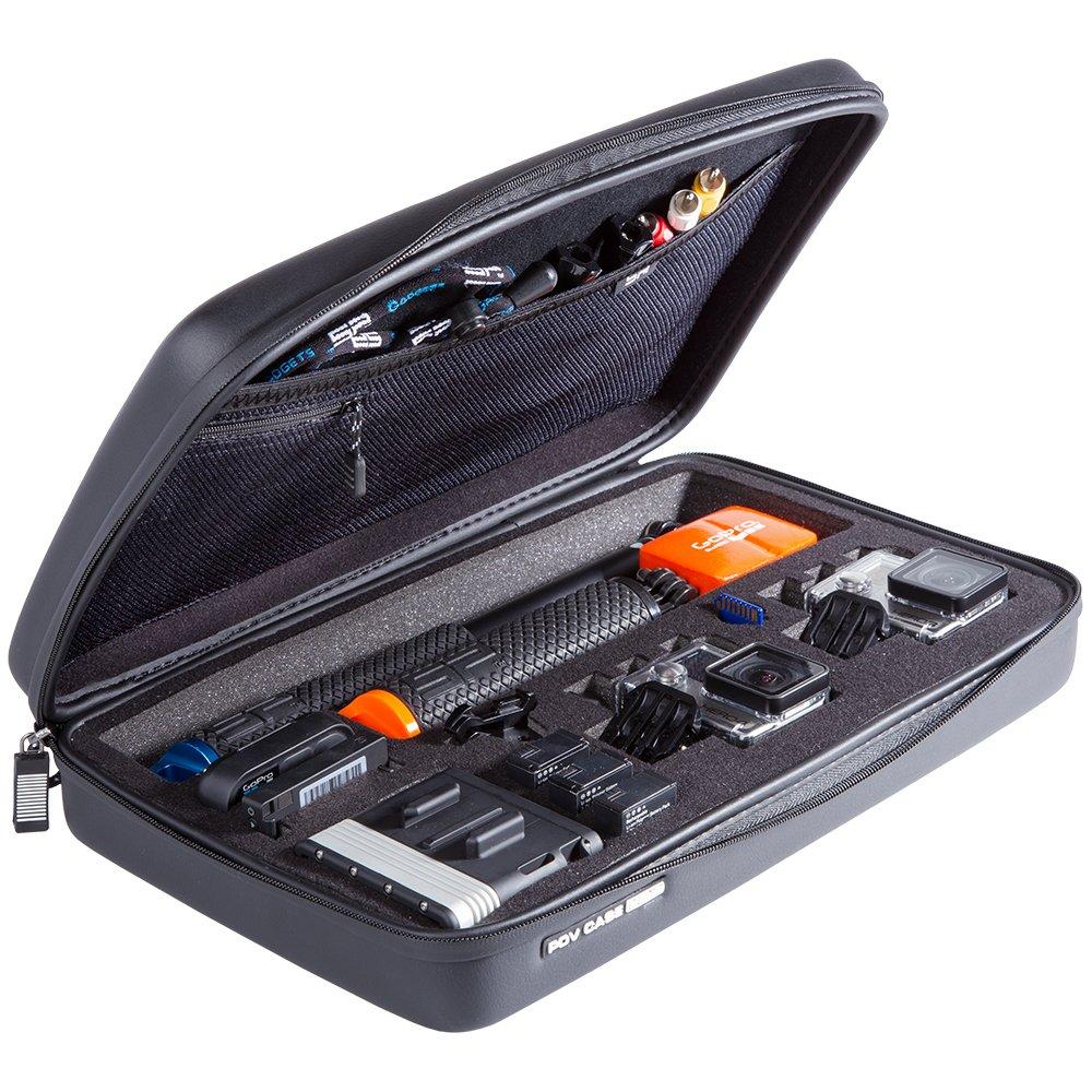 SP Gadgets Edition for Go Pro POV Elite Case, Black, Large