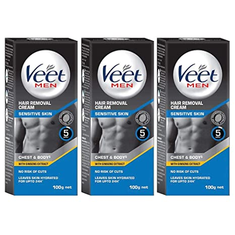 Buy Veet Hair Removal Cream For Men Sensitive Skin 100g Each