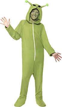 Smiffys Costume Disfraz de Alien, color verde, S-4-6 Years (55014S ...
