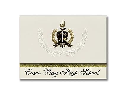 Signature Announcements Casco Bay High School (Portland, ME) Graduation Announcements, Presidential style