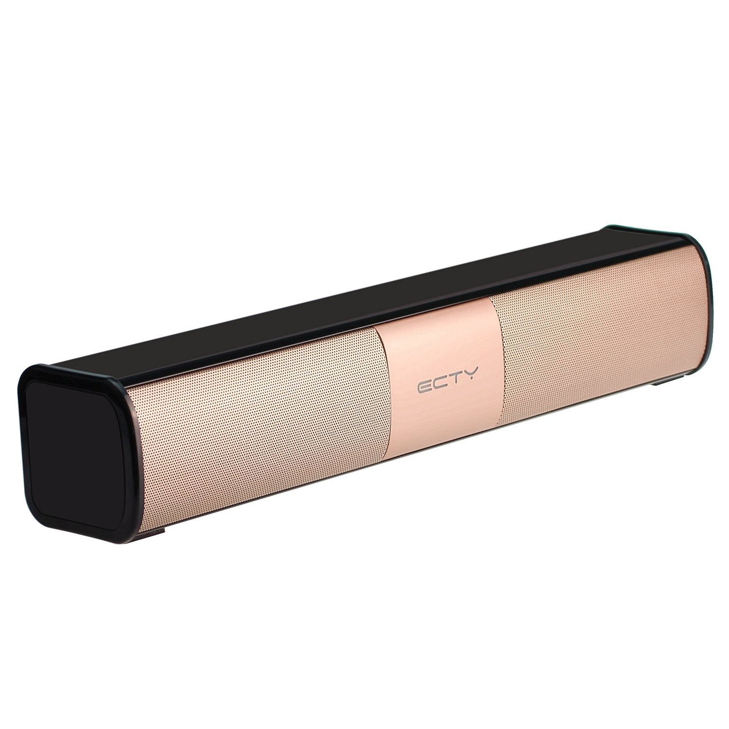 BEISTE Portable Bluetooth Indoor/Outdoor Speaker with Dual 5W Drivers Enhanced Built-in Microphone LED Bar Aux Audio/TF Card Supported for Travel, Party, Home ( Gold )