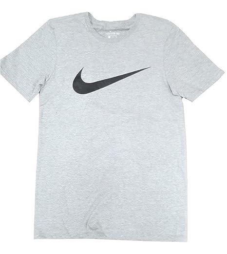 dfde049f76517 Nike Men's Logo Swoosh Tee Shirt Heather Gray/Black (Small)