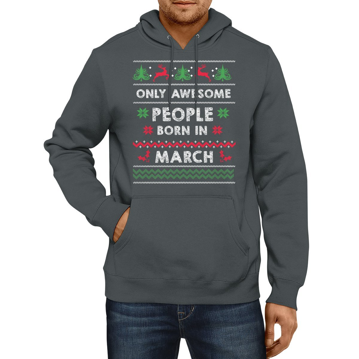 Dolphintee Only Awesome People Born In March Hoodies For whose Is Birthday In March