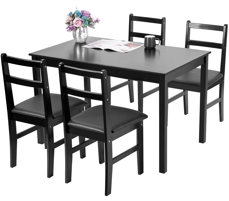 Merax 47'' Rectangular Dinning Table in Dark Espresso 100% New Zealand Pine Wood Finish by Merax (Image #2)