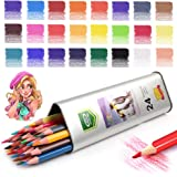 Art Colored Pencils & Drawing Color Pencil Set,for Adults & Kids Beginners and Artist Pencils for Coloring.(24-Color)