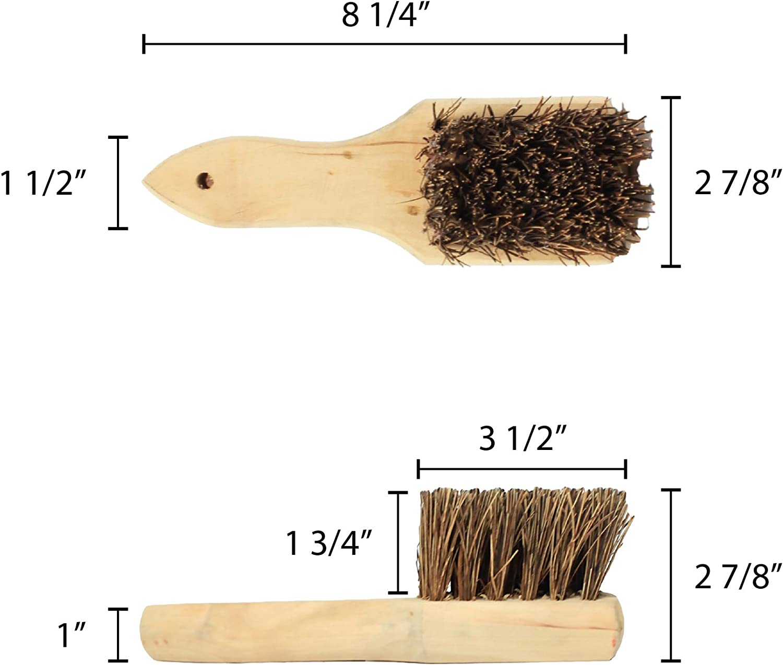 Restaurant Essentials 8 Palmyra Bristles Wok Brush With Wood Handle Comes In Each Dinnerware Sets