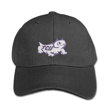 081dc4e3fdb KIDDOS Kids Boys Girls Texas Christian Tcu University Baseball Cap Cotton  Cap - Adjustable Hat Black