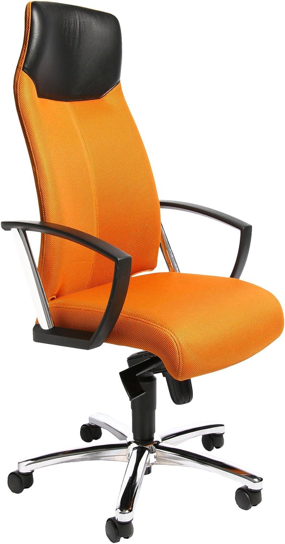 Topstar SU39A BG4 Bürostuhl High Sit up orange mit Armlehnen