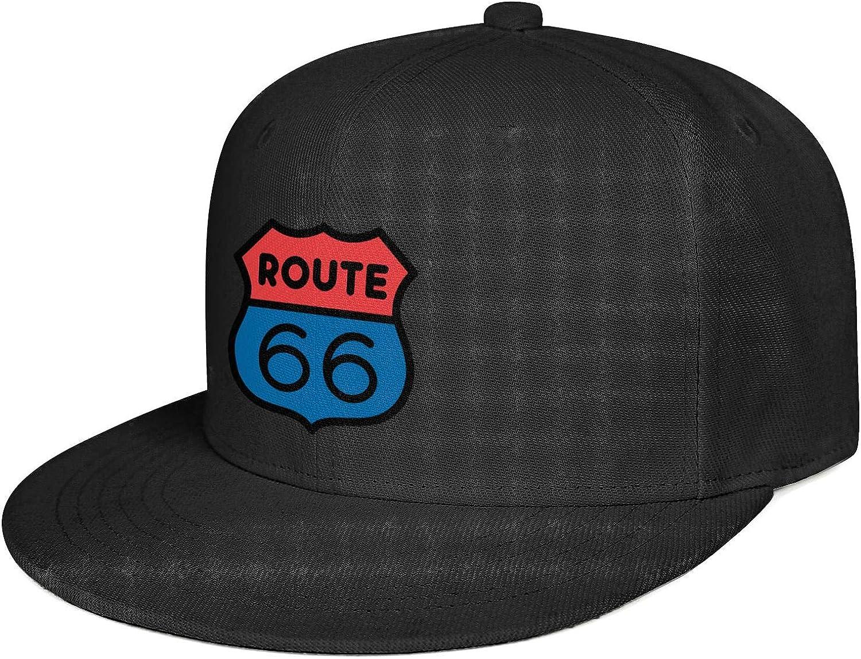 Arizona Route 66 Flag Baseball Caps Best Snapback Hat Mens Adjustable Snapback Flat Brim Hats for Women
