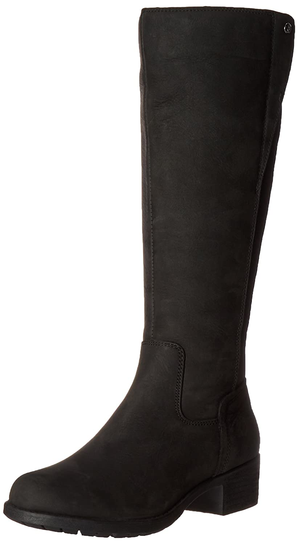Hush Puppies Women's Polished Overton Riding Boot B019X8BZYO 6 W US|Black Wp Leather