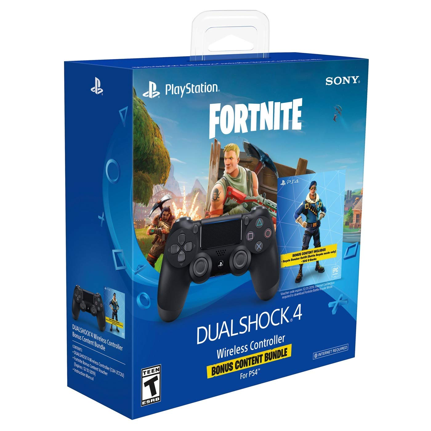 Amazon.com: Playstation 4 Fortnite Starter Bundle: Playstation Exclusive Royale Bomber Outfit, 500 V-Bucks, Playstation 4 Slim 1 TB Console with Extra ...