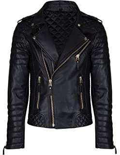 Leather Mens Leather Jacket at Amazon Mens Clothing store