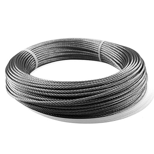 Imagen Cable de Suspensión 50 Metros Vinilo Revestido con ...