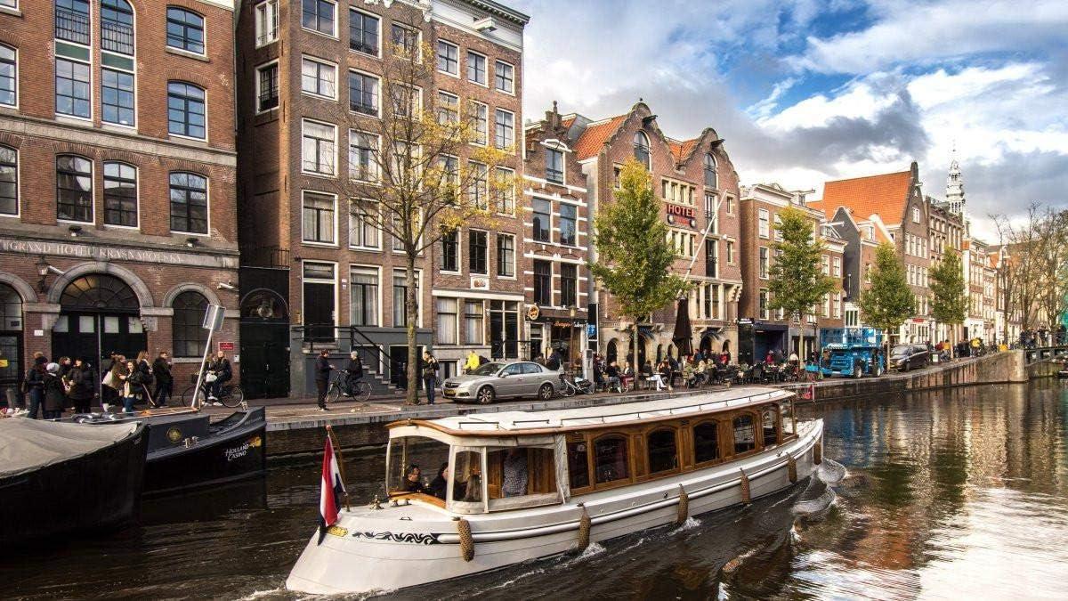 HEE WAG Cuadros del Paisaje de la Capital Holandesa Amsterdam Pintura por números DIY Unique
