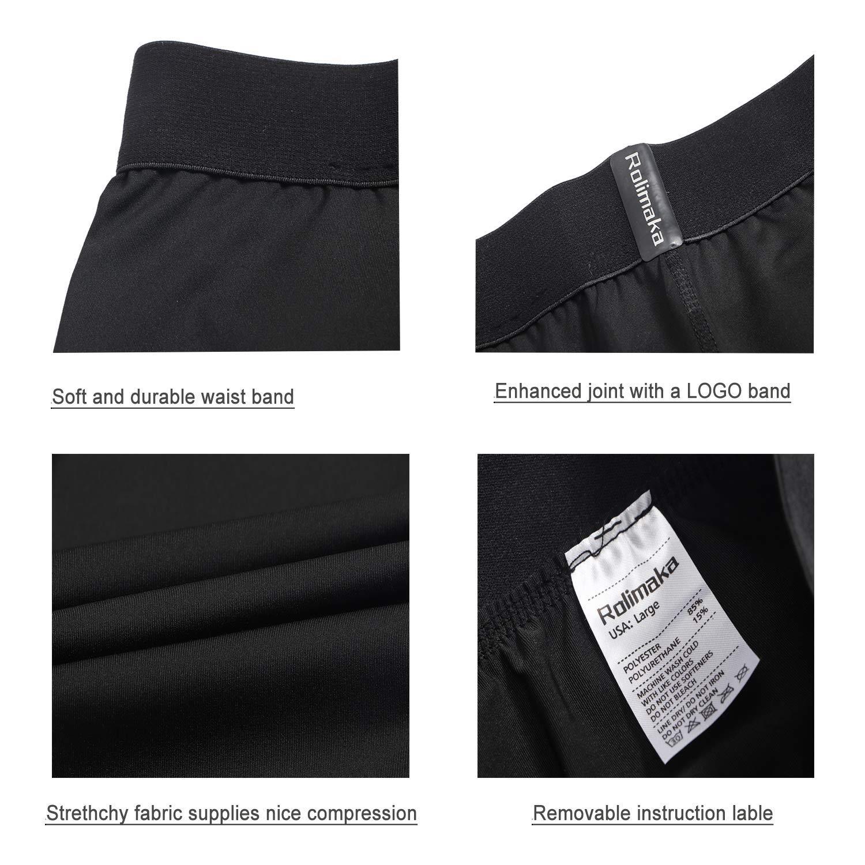 Rolimaka Boys Youth Compression Shirts Long Sleeve Base Layer Pants Tight Running Leggings 2 Pcs Set