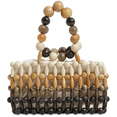 Amazon.com: Bolsas de madera hechas a mano para mujer, bolso ...