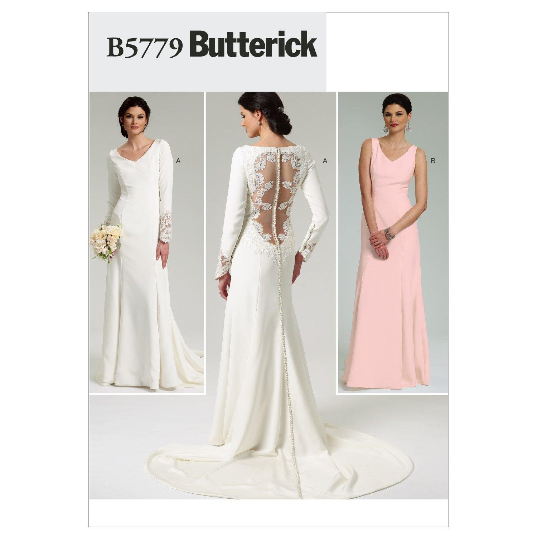 Butterick B5779 - Patrón de costura para confeccionar vestido de ...