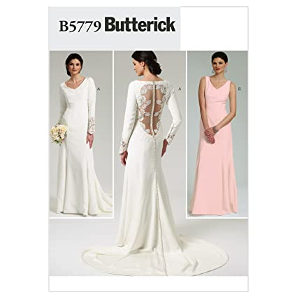 Amazon.com: Butterick Patterns B5779D50 Misses\' Dress Sewing Pattern ...