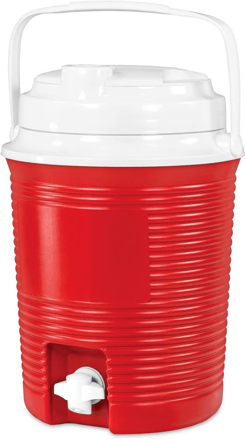 Innovative Technology 6.5-Liter Round Cooler with Waterproof Bluetooth Speakers and Built-in 4,400mAh Power Bank, Red