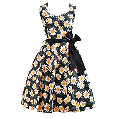 Bangxing Womens Style Rockabilly Dresses Party Dress 11 Orange