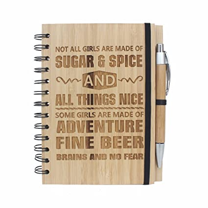 e40c08a4105ef Not all girls are made of sugar and spice   all things nice - Bamboo  Notebook  Amazon.in  Office Products