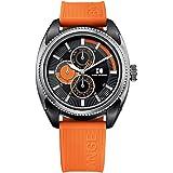 Boss Orange Herren-Armbanduhr XL Analog Quarz Silikon 1512826
