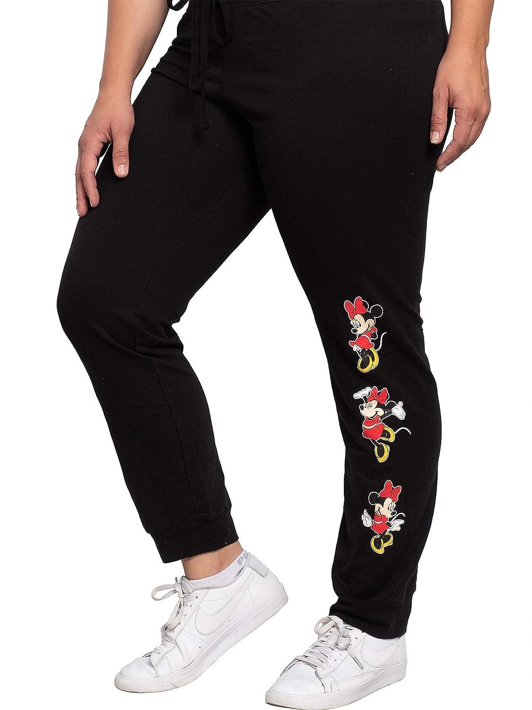 Disney Womens Minnie Mouse Jogger Lounge Pants Plus Size (Black ...