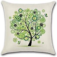 Decorativa almohada multicolor algodón y mariposa plumas