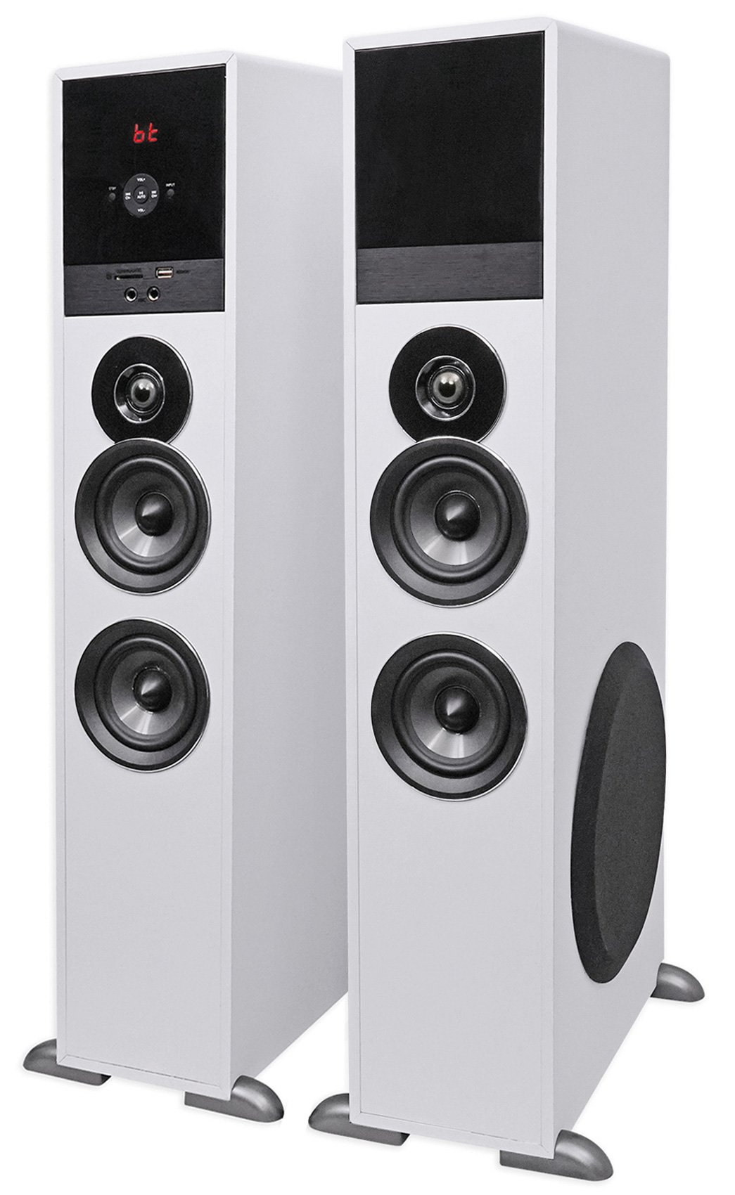 Tower Speaker Home Theater System+8'' Sub For Toshiba LED Television TV-White by Rockville (Image #2)
