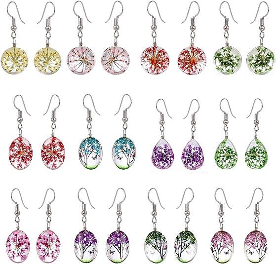 Yellow earrings Leaf jewelry Gift for women Ball earring Bronze dangles Gift under 10 Yellow bead leaves Dangle earrings Brass drop earrings