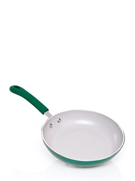 Hogar Jata SE22VE Induction Frying Pan, Green: Amazon.co.uk: Kitchen ...