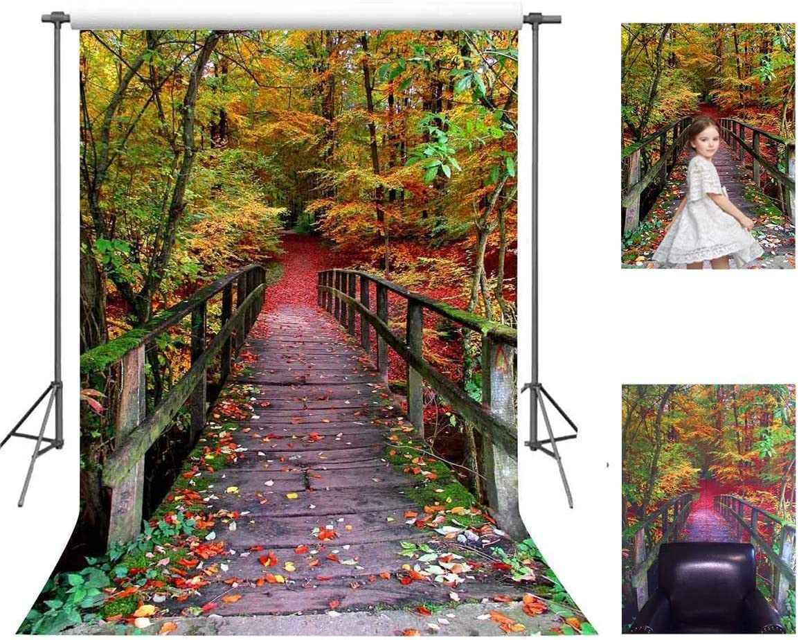 CdHBH 10x12ft Forest Wooden Bridge Beautiful Scenery Portrait Clothing Photo Photography Background Cloth Photo Studio Photo Photography Background Photo Studio Photography Photo Props