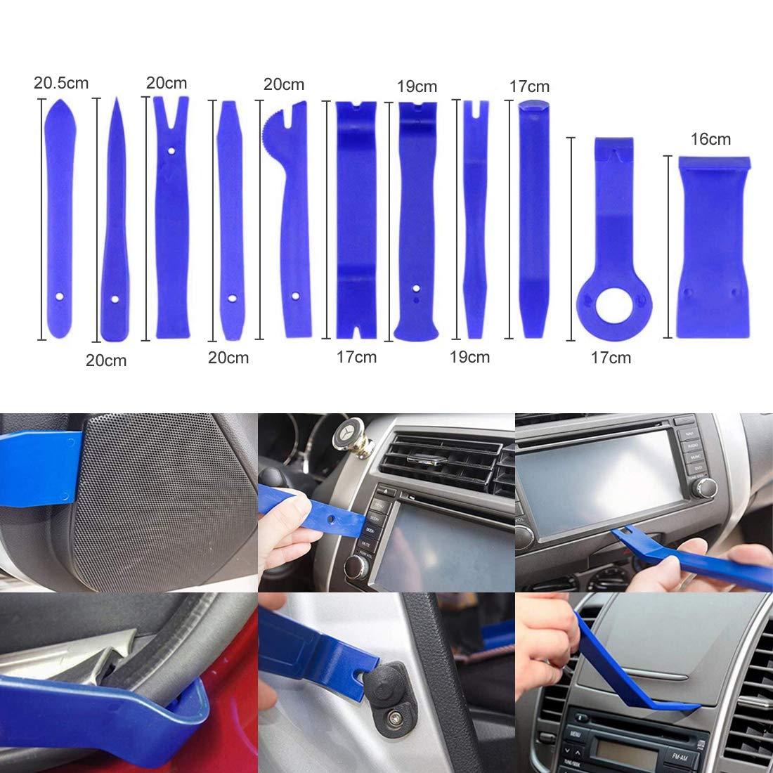 UTSAUTO 37Pcs Auto Audio Trim Removal Tool Set Car Panel Door Audio Trim Removal Install Tool Kit with Storage Bag