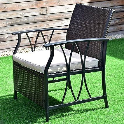 Sedie Da Giardino Fai Da Te.Aoli Set Di 4 Pezzi Di Mobili Da Giardino Set Di Sedie Da Giardino