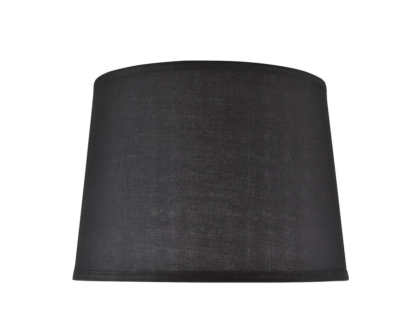 Black 12 x 14 x 10 Black 12 x 14 x 10 Aspen Creative 32149 Transitional Hardback Empire Shape Spider Construction Lamp Shade in Black, 14  wide (12  x 14  x 10 )