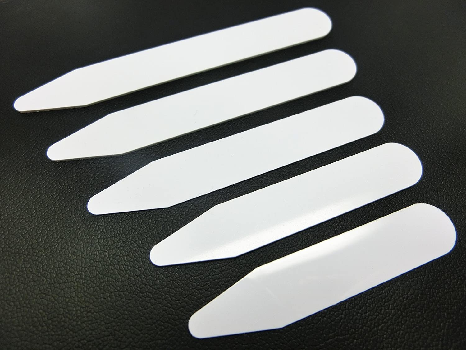 Shang Zun 200 Pcs Plastic White Collar Stays Bones Stiffeners 5 Sizes
